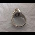 Male Parad Finger Ring containing 10 Gram Parad Stone encapsulated in pure silver metal band weighing in total 20.690 Grams